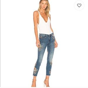 Blank NYC Floral Embroidered Skinny Jean 26